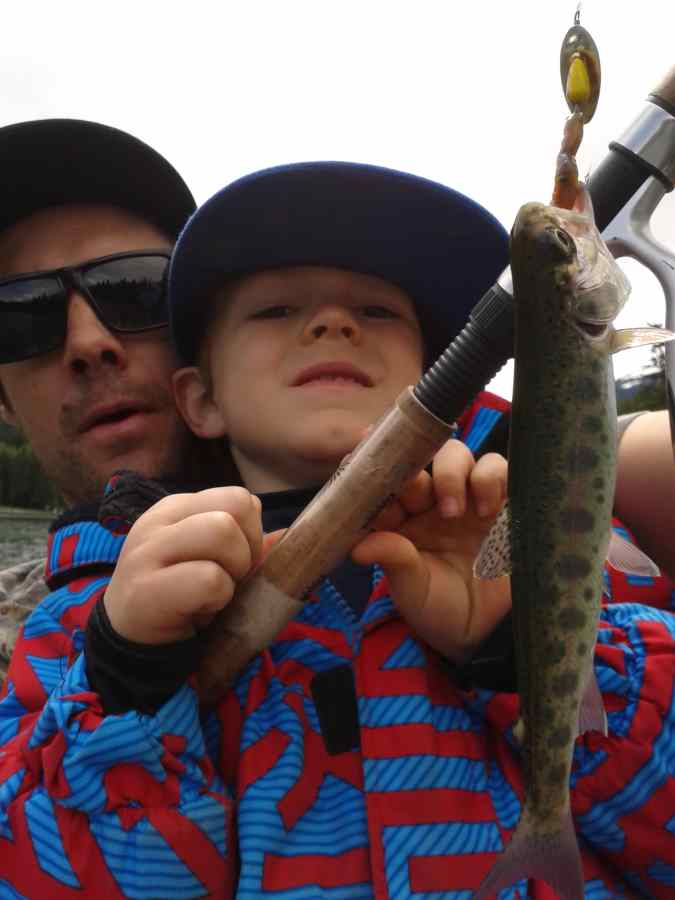 Kids Fishing in Whistler with the Pemberton Fish Finder