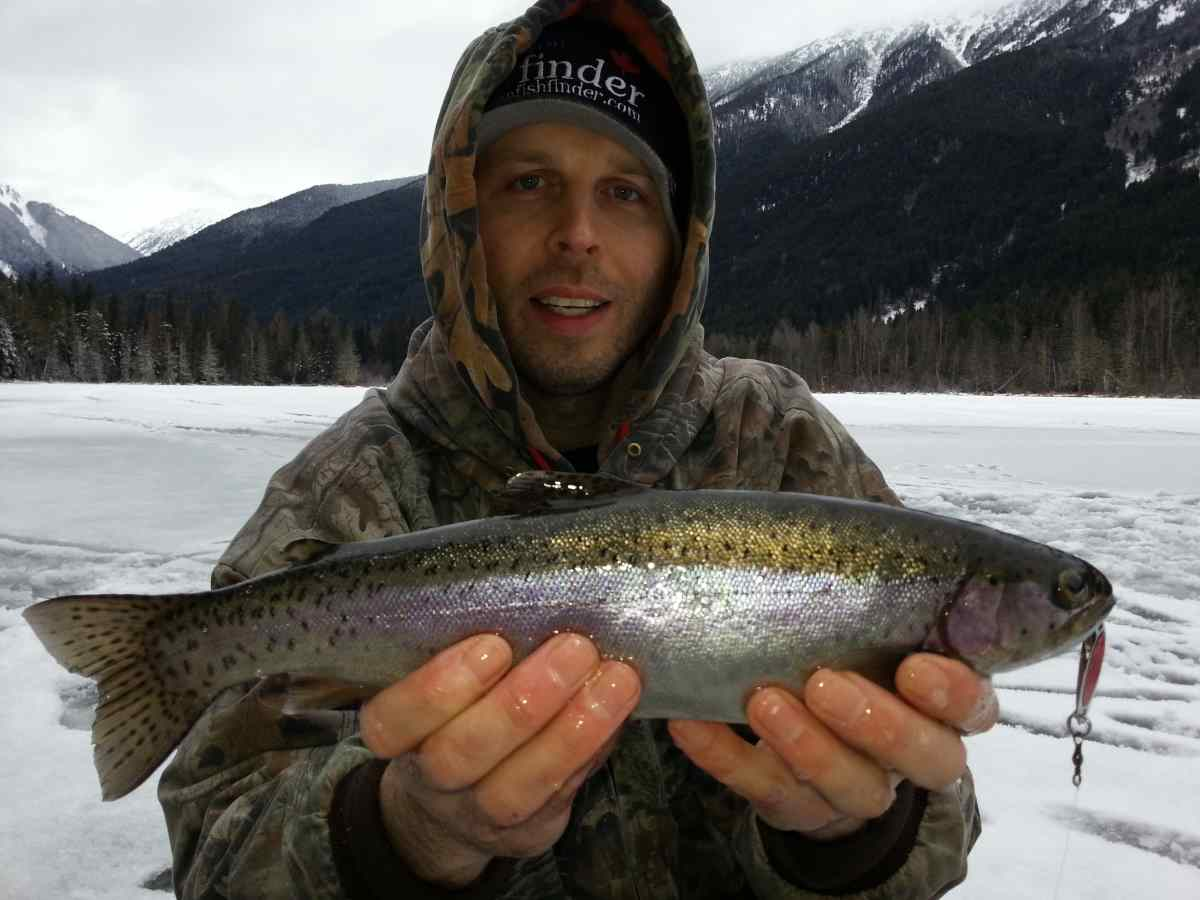 Ice fishing pictures whistler pemberton british columbia for Ice fishing for trout