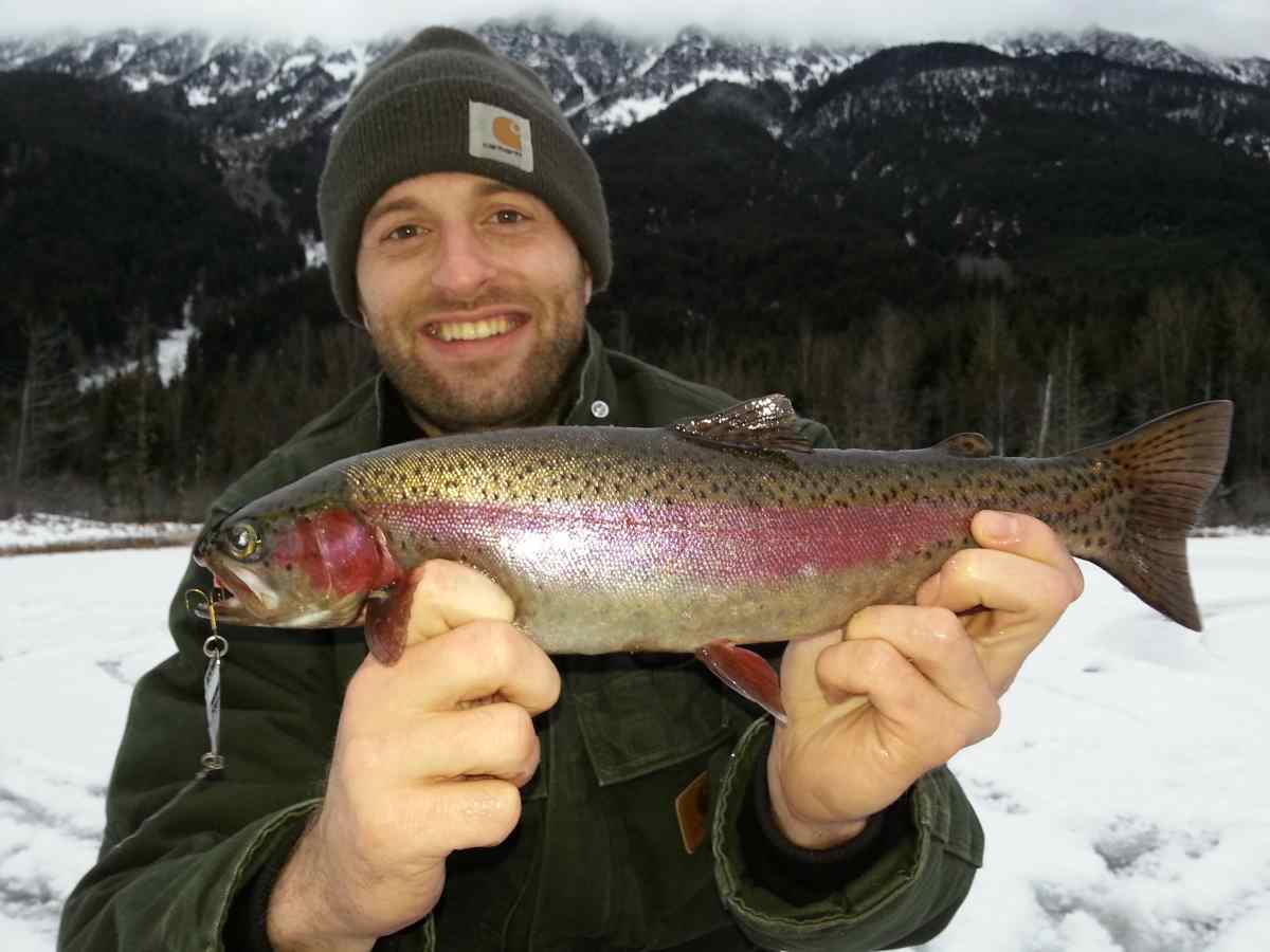 Ice fishing pictures whistler pemberton british columbia for Rainbow trout fishing