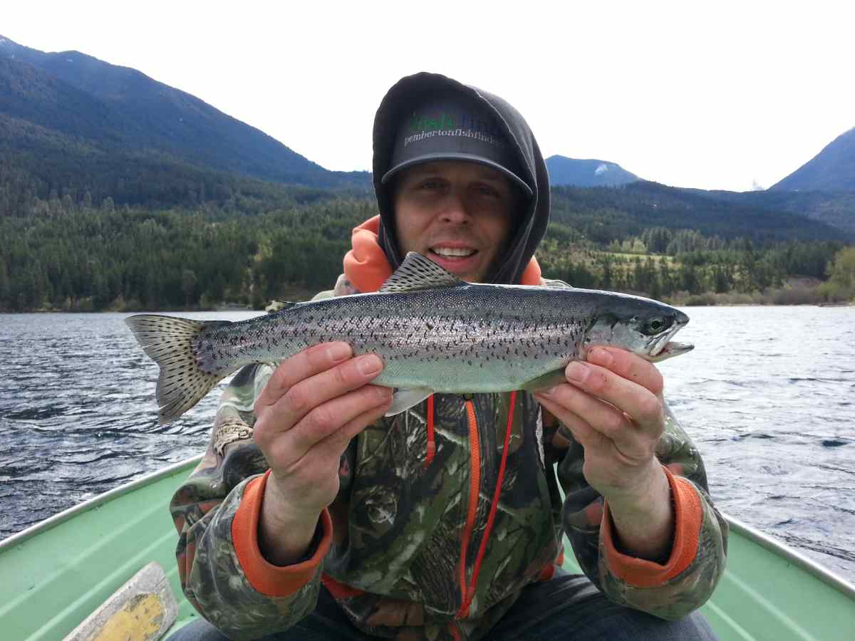 May fishing anderson lake british columbia for How to fish for rainbow trout