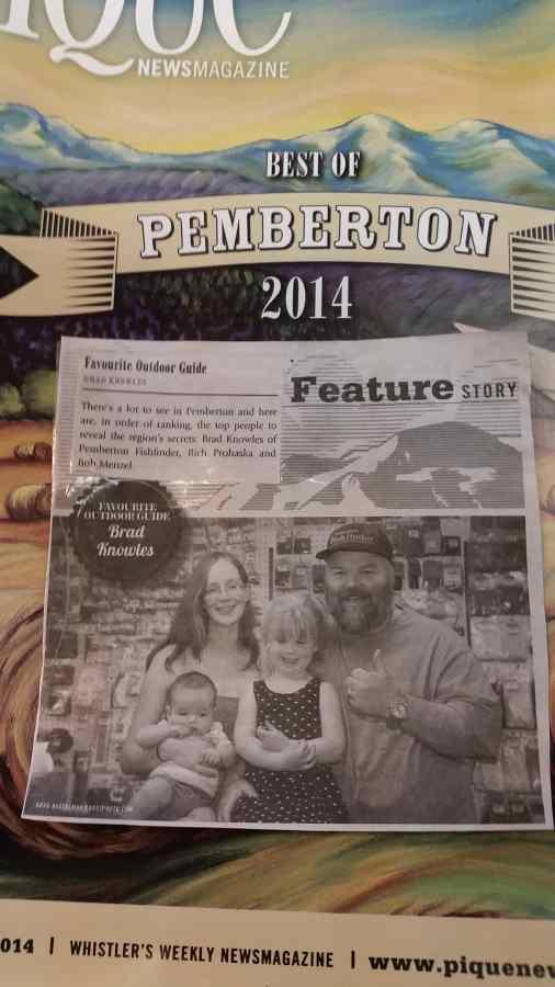 Pemberton Fish Finder Awarded Favorite Outdoor Guide 2014