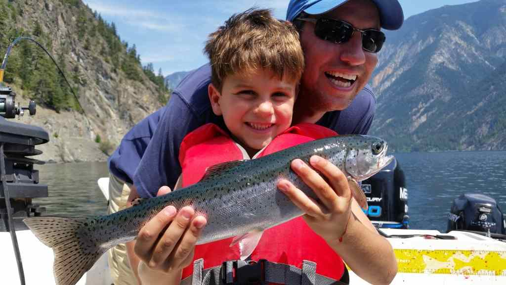 Families fishing in Whistler BC