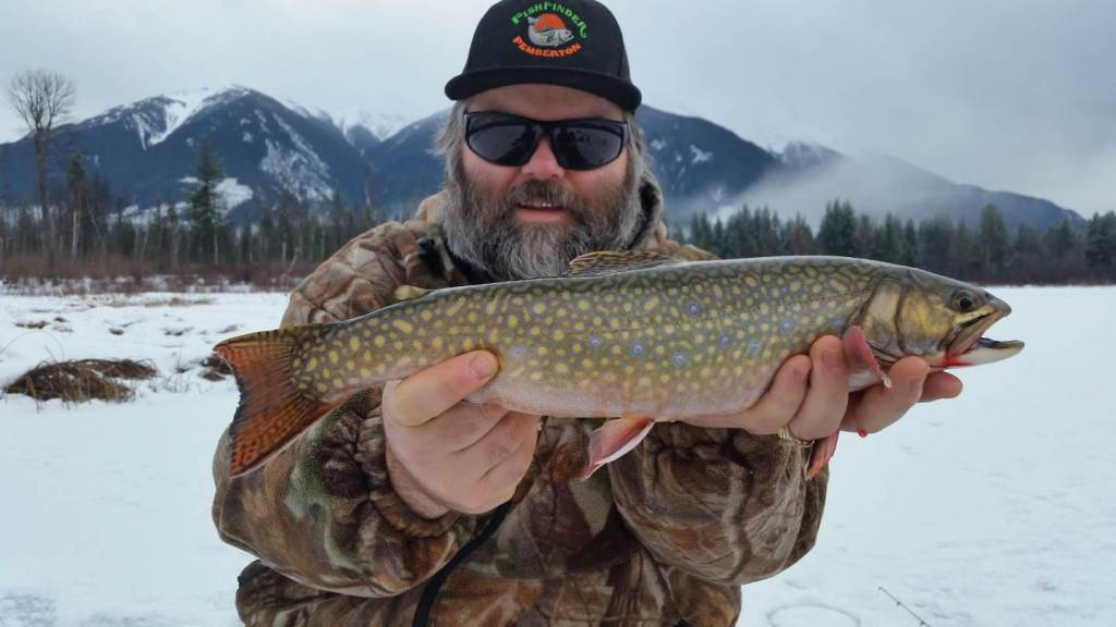 Best brook trout ice fishing in british columbia canada for Best ice fishing fish finder