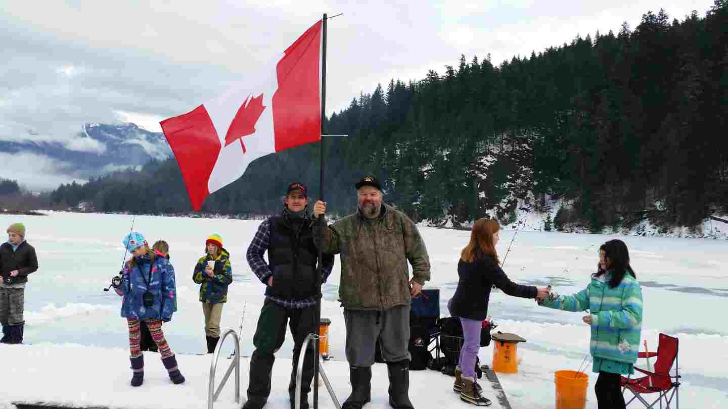 2014 2015 pemberton fish finder 39 s ice fishing season is
