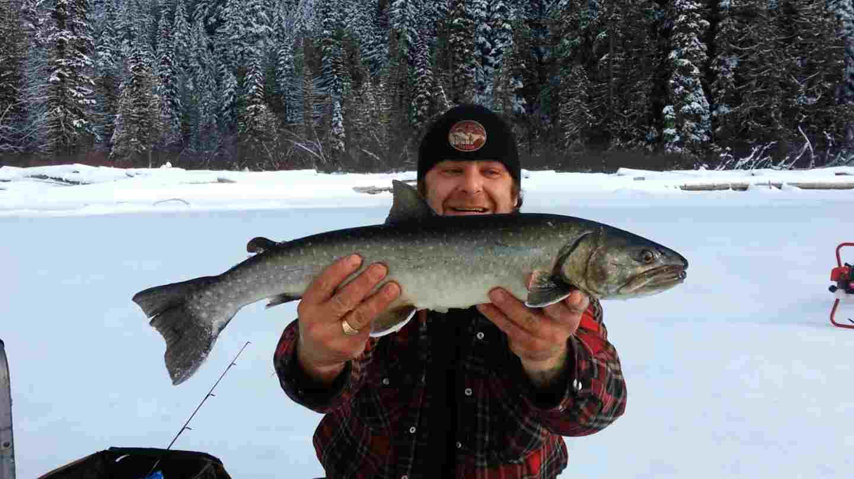Ice fishing Video in British Columbia Canada