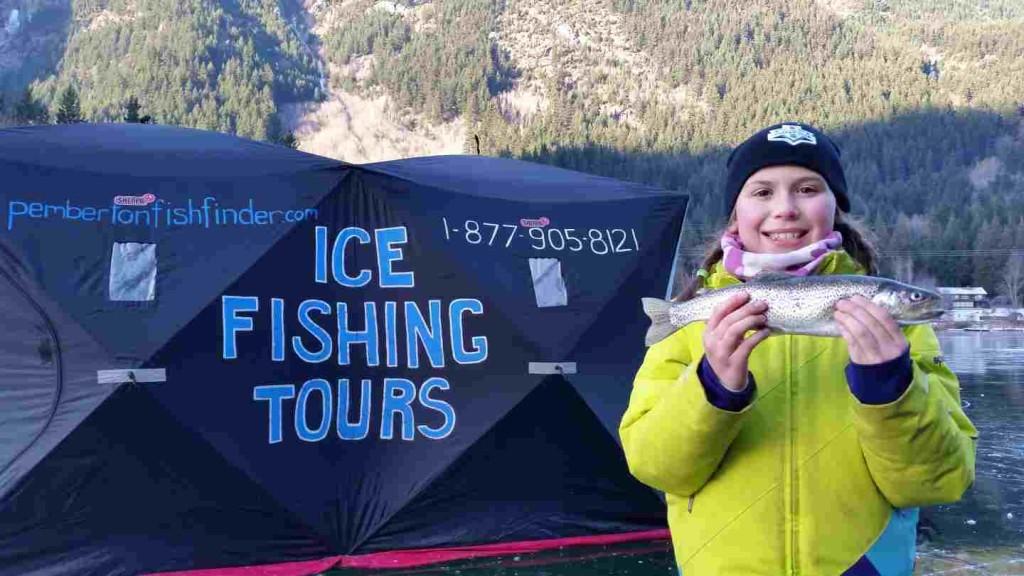 Ice fishing trips in british columbia canada for Ice fishing canada