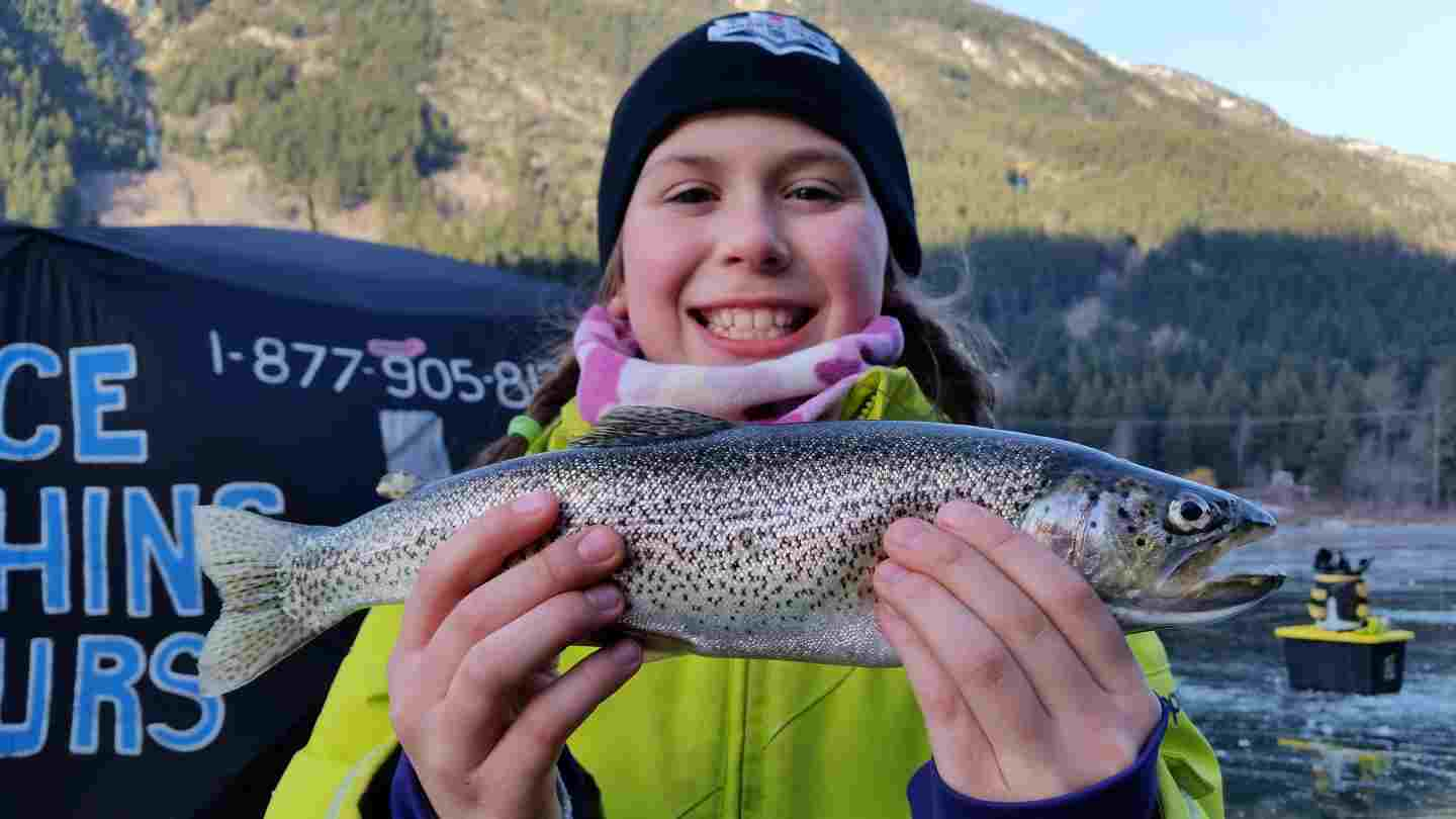Ice fishing trips in British Columbia Canada
