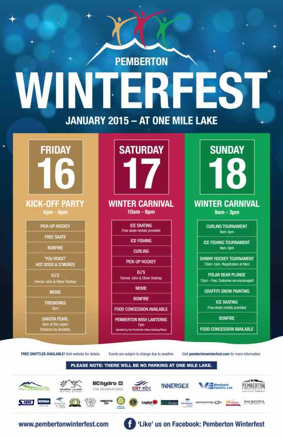 Pemberton Winterfest 2015 Events and Schedule