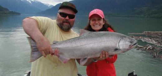 Salmon Fishing Pemberton British Columbia Canada