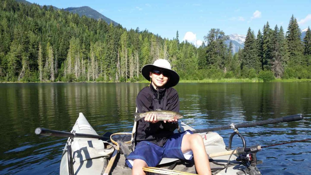 Fly Fishing and Spin Fishing Blackwater Lake in British Columbia Canada