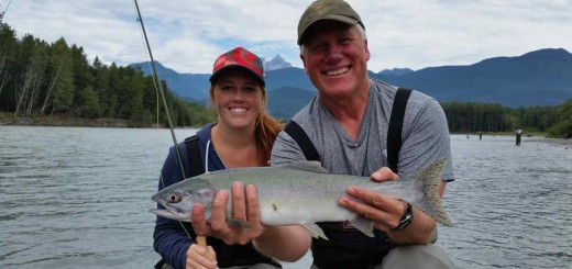 Fly fishing for Pink Salmon