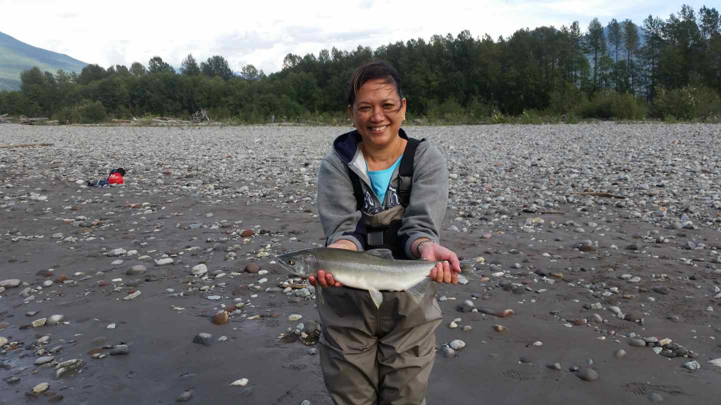 Whistler fishing spots and fishing guides for Fly fishing for salmon