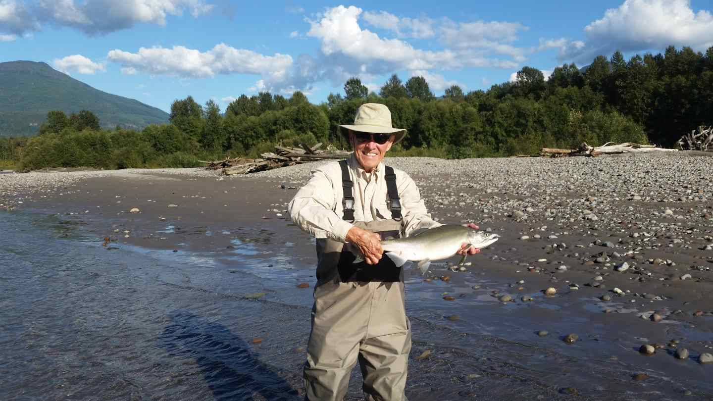 Pink salmon fly fishing trips in whistler bc fishing for Fly fishing vacation packages