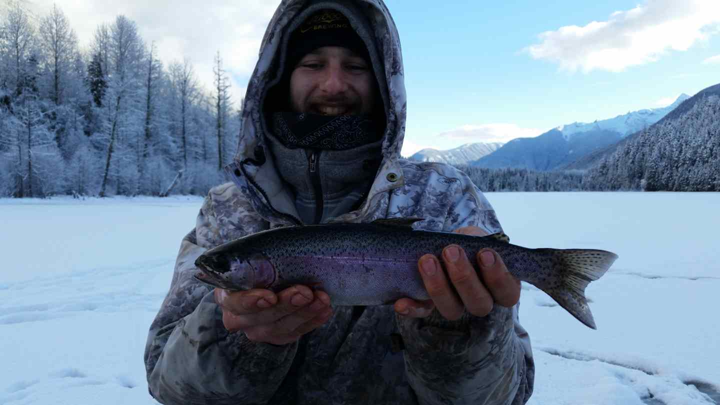 2015 bc ice fishing report blackwater lake for Ice fishing report