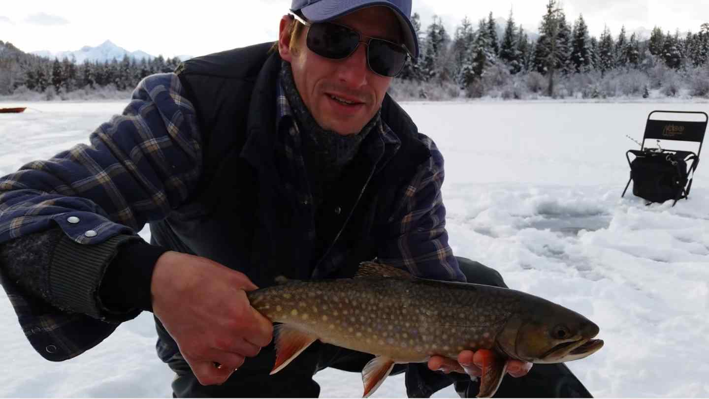 Ice fishing trips in canada with pemberton fish finder for British columbia fishing license