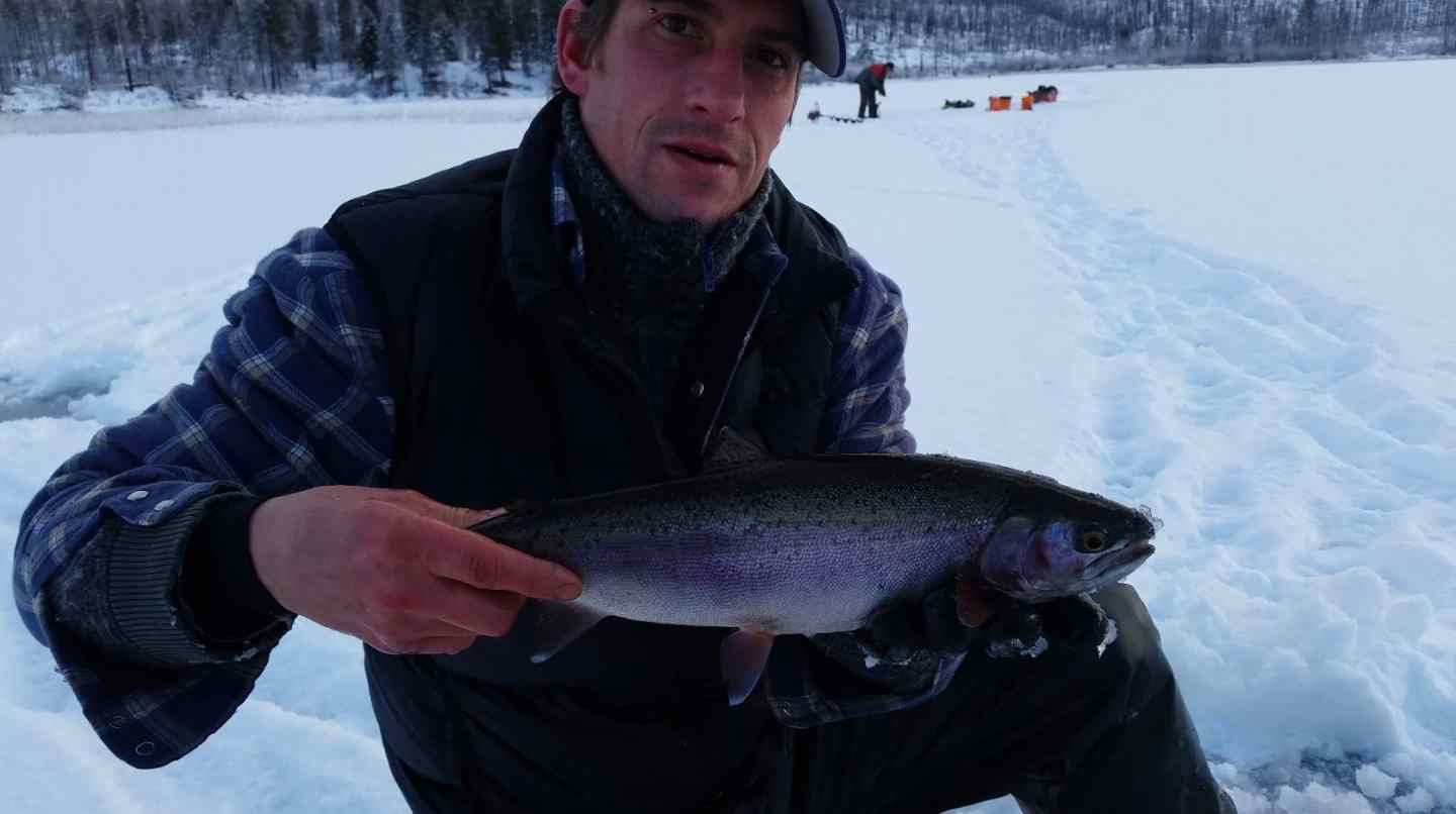 Ice fishing for rainbow trout bc fishing reports for Ice fishing for trout