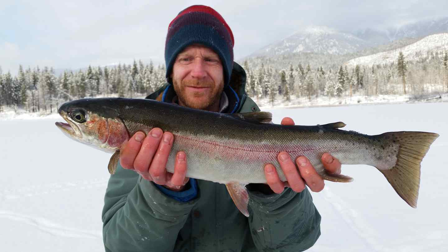 Ice fishing trips in canada with pemberton fish finder for Ice fishing fish finder