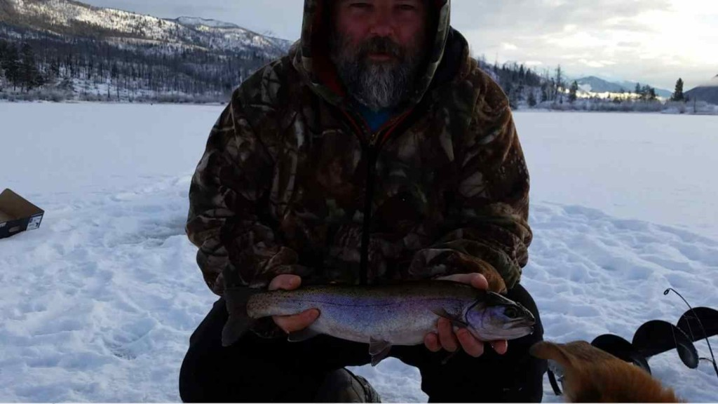 Ice fishing trips in canada with pemberton fish finder for Ice fishing canada