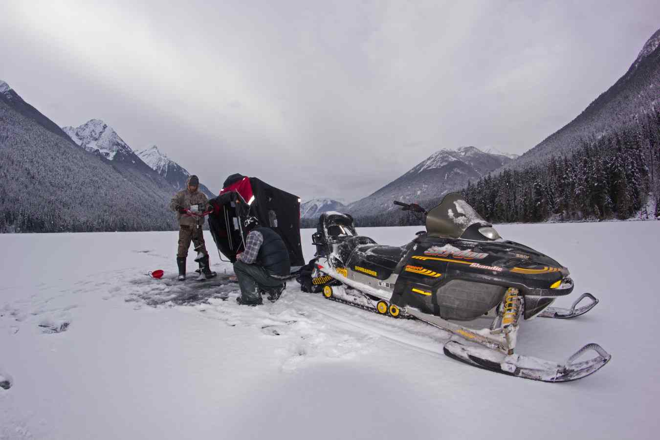 Ice fishing a fun winter activity in whistler canada for Ice fishing reports