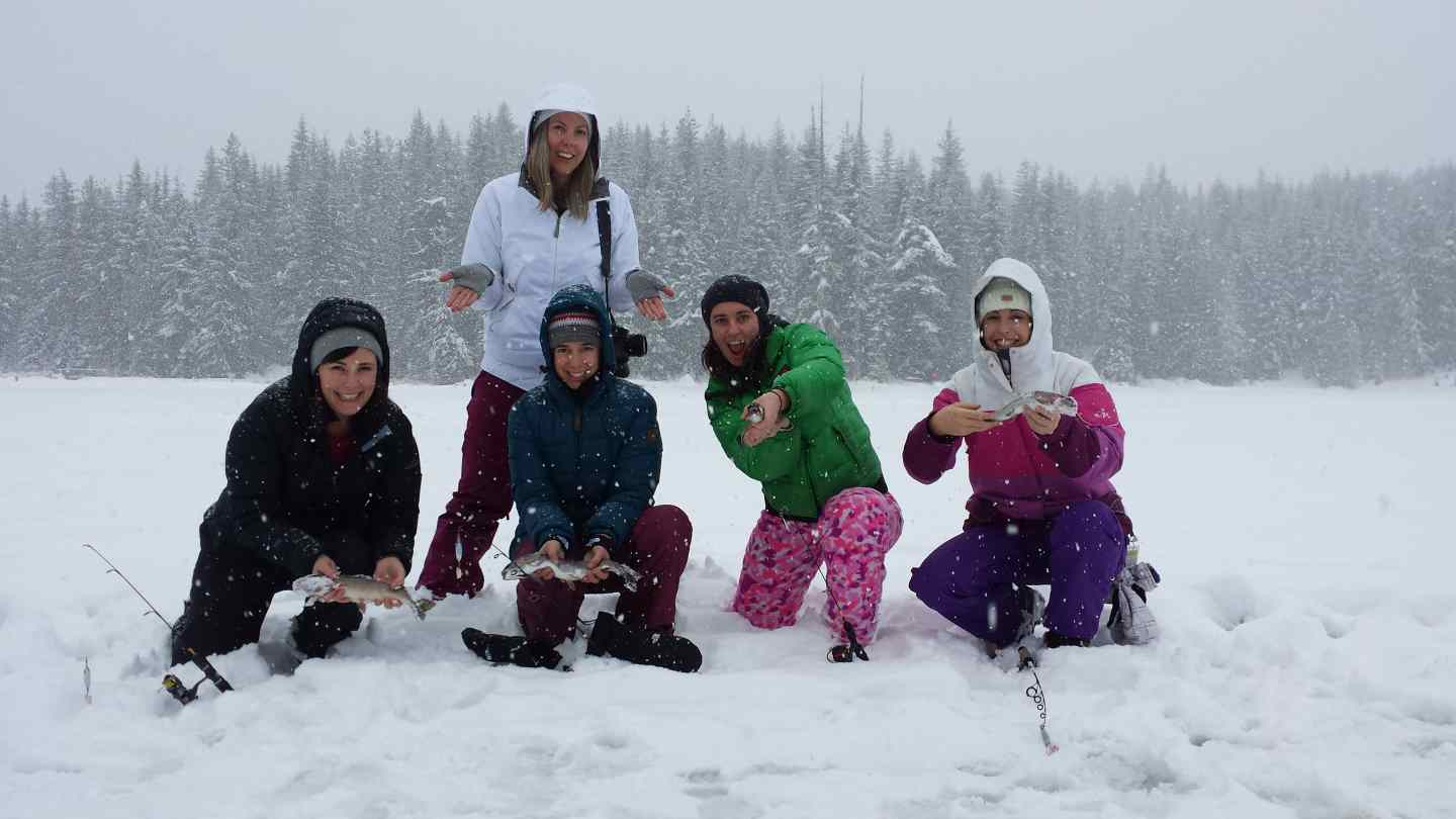 Winter fishing in whistler bc for Winter bachelorette party ideas