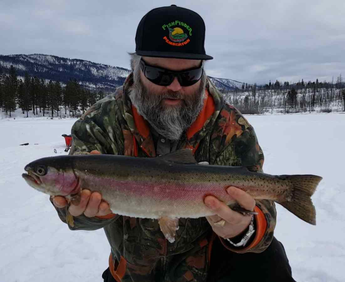 Canadian ice fishing videos by pemberton fish finder for Ice fishing for trout
