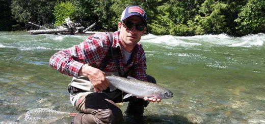 Fly fishing Birkenhead River in Pemberton British Columbia