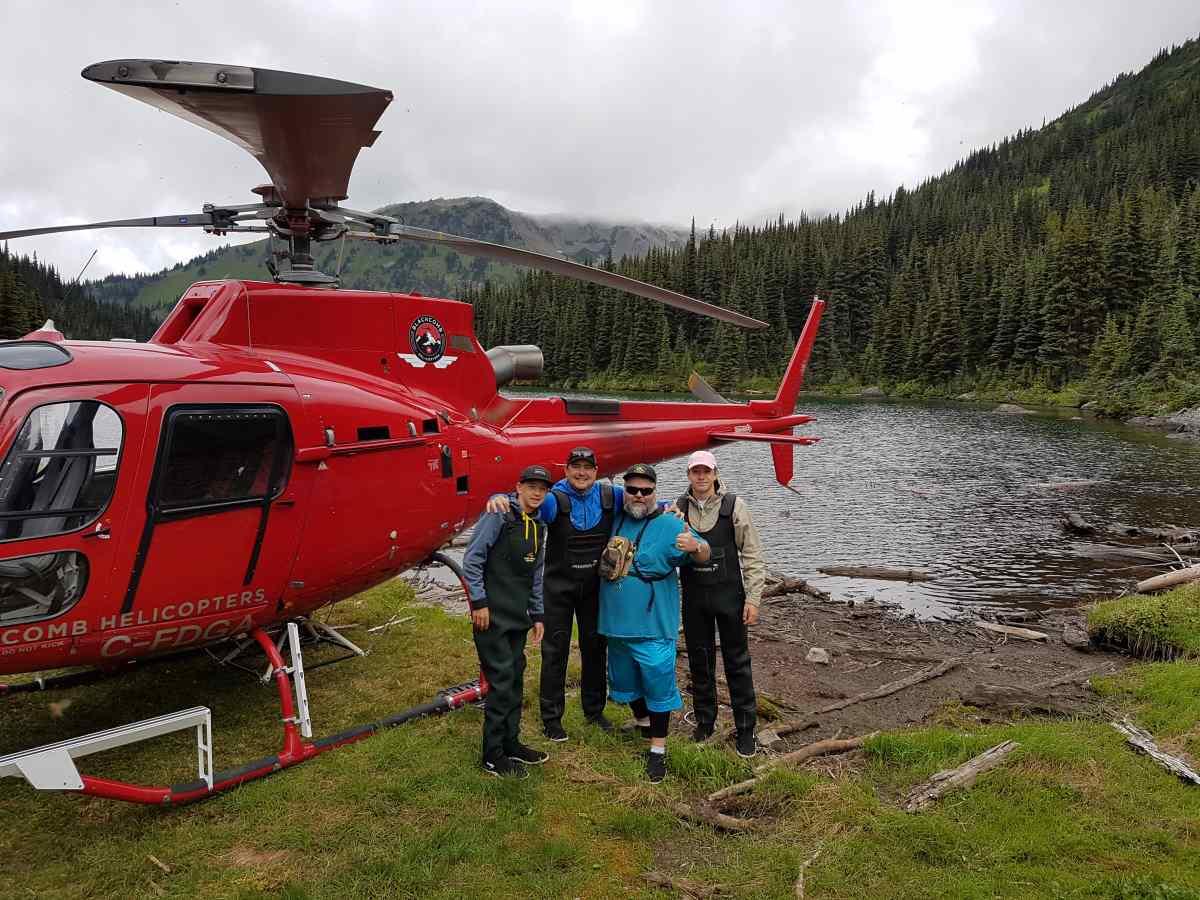Its heli fishing season in british columbia canada for Canadian fishing trips