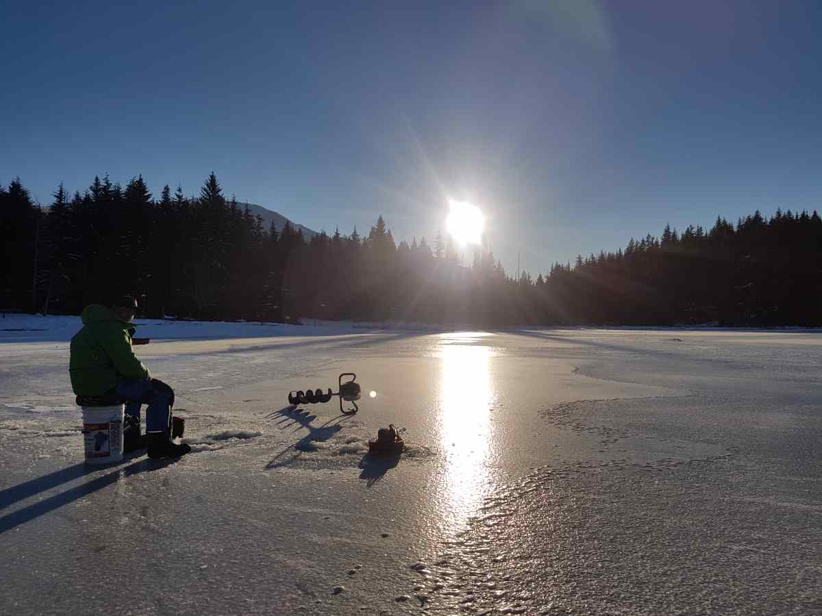 Ice fishing trips in whistler canada for Day fishing license ca