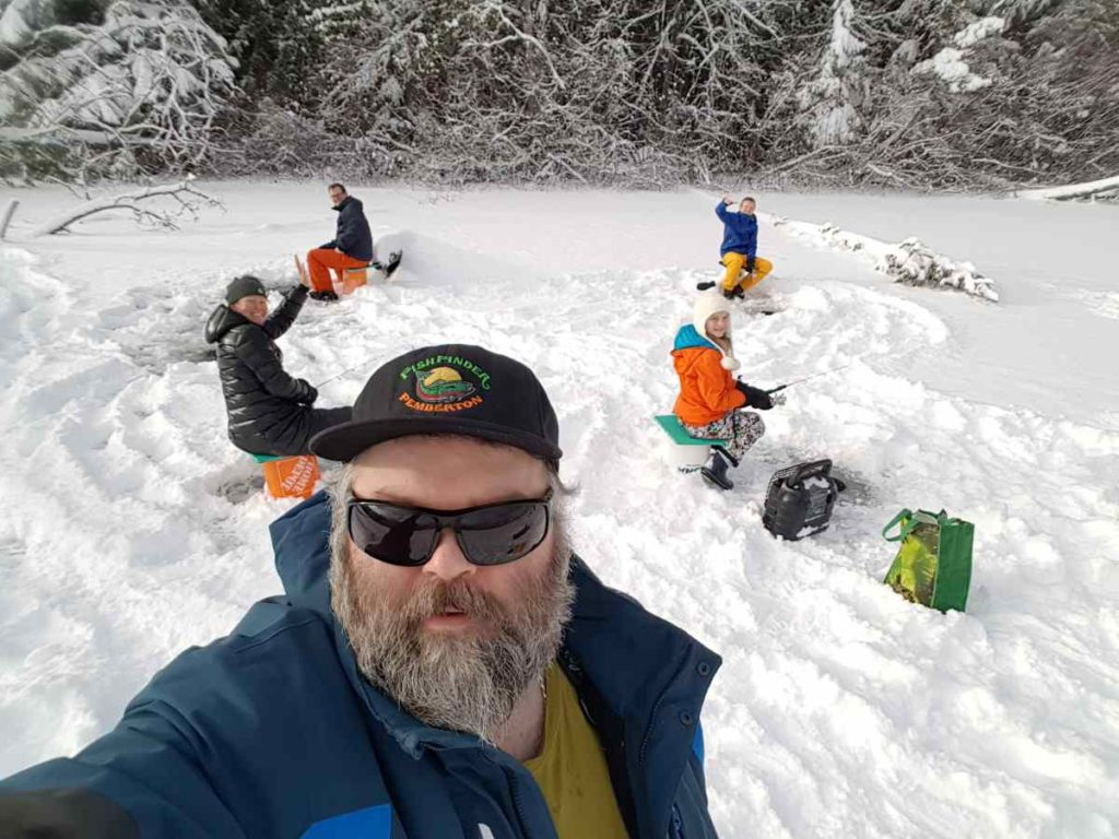 Ice fishing selfie