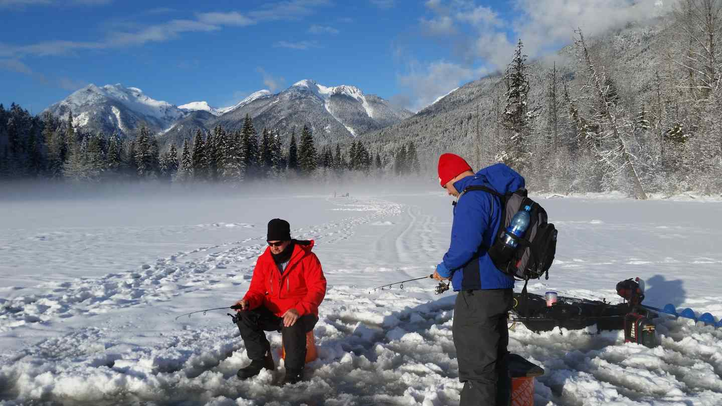 Ice fishing bc bc fishing reports pemberton fish finder for New ice fishing gear 2017