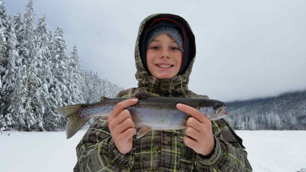 Kids enjoy Ice fishing