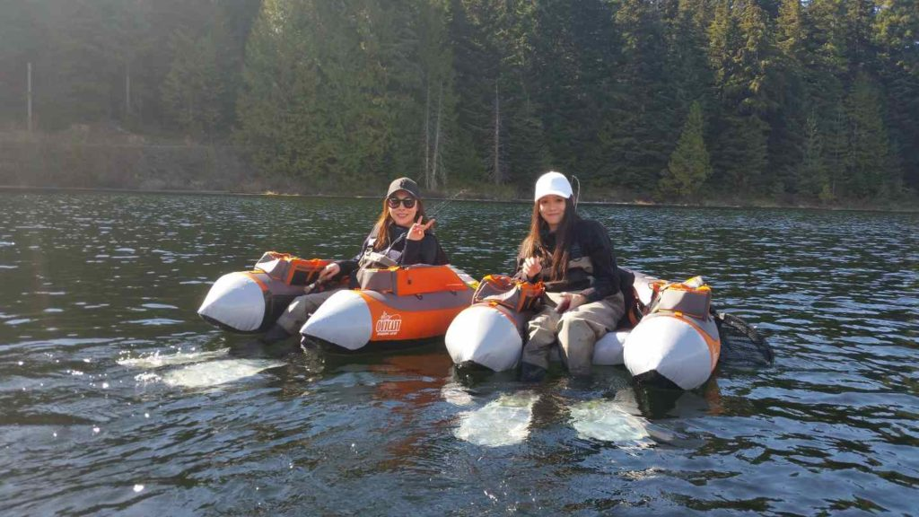 Women fly fishing in Whistler BC