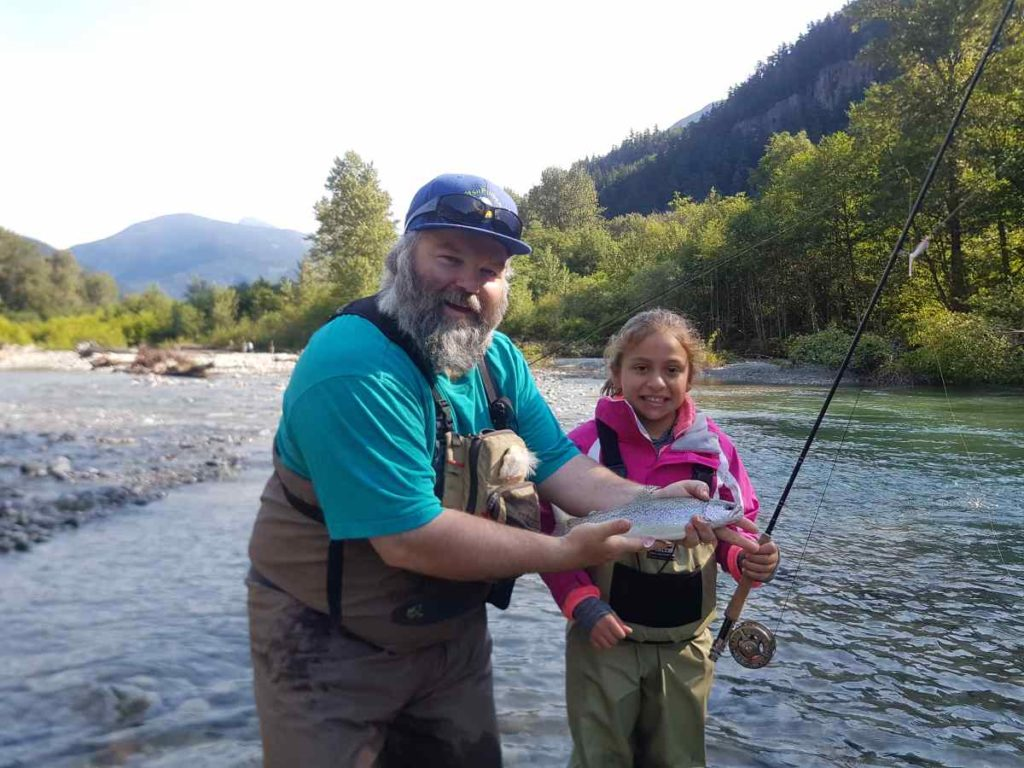 Kids love fly fishing in Canada