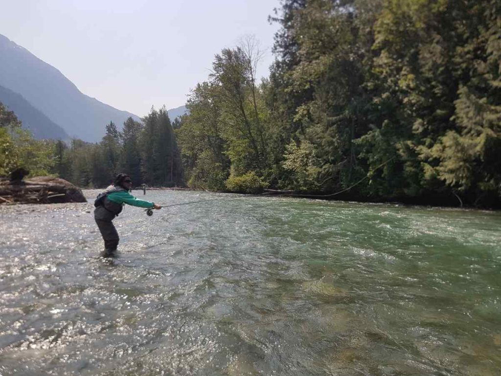 Great fly fishing in british columbia canada birkenhead river for Fly fishing classes