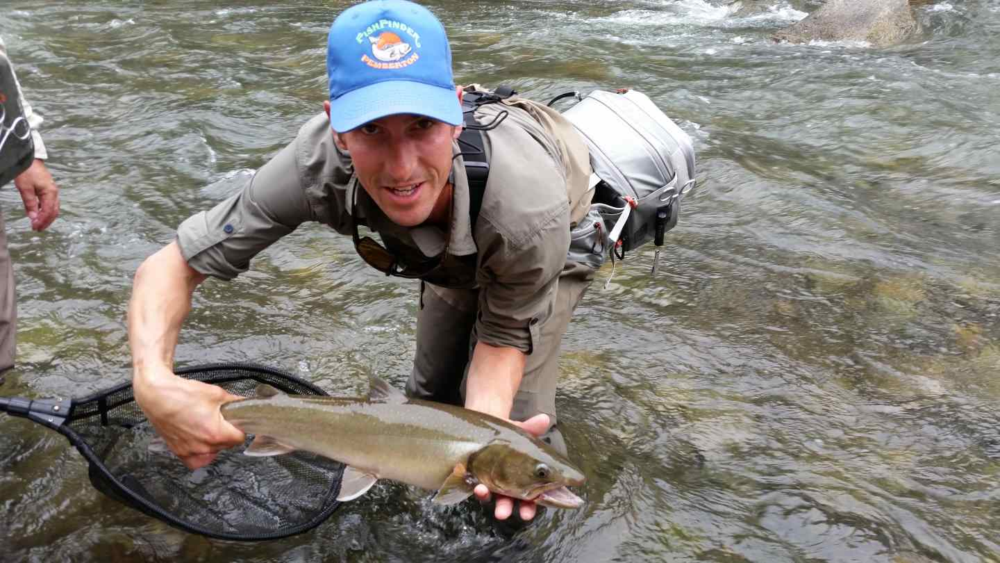 Birkenhead river is fall fly fishing at its best in for Fly in fishing canada