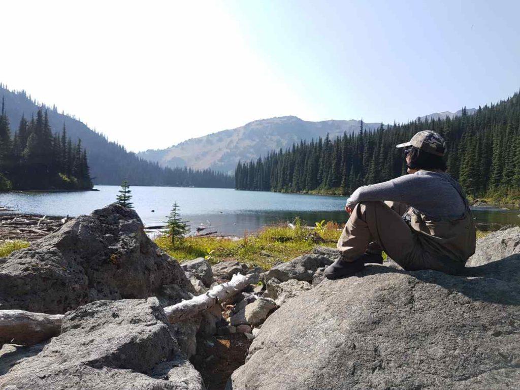 Scenic remote lakes in Canada