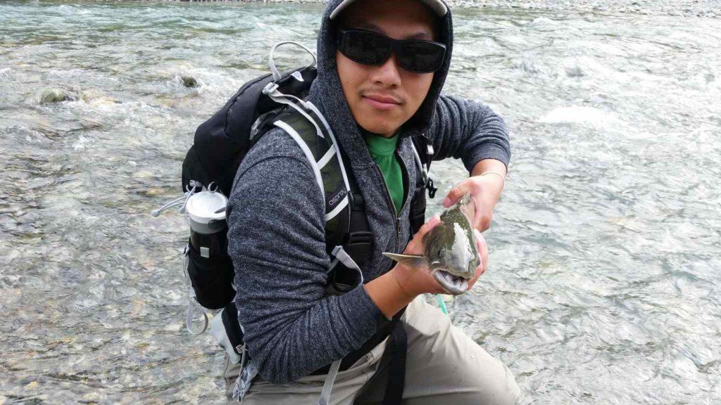 Stream fly fishing in Canada