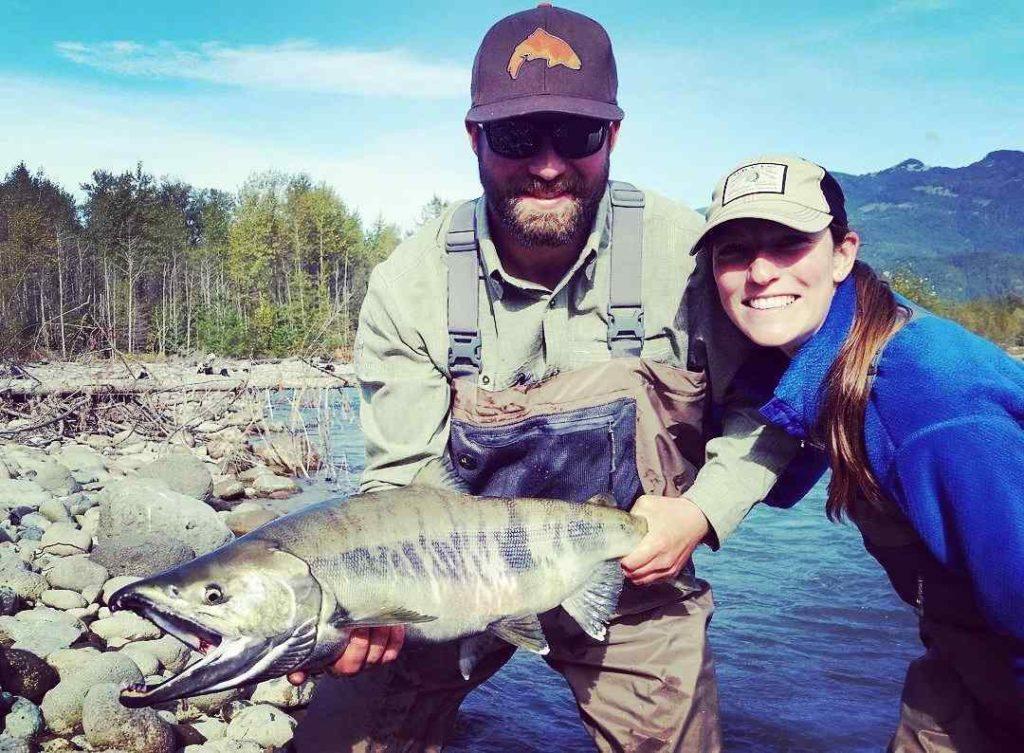 Chum Salmon fly fishing in BC