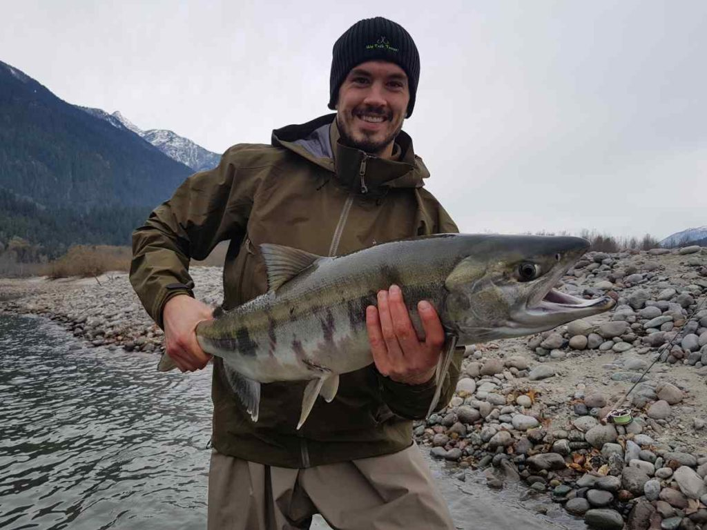 Jonathan Ericsson Fly fishing for Salmon in Canada