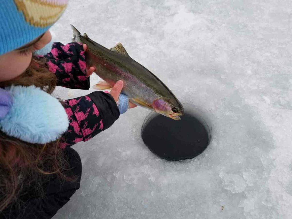 Great Ice fishing in Whistler BC Canada
