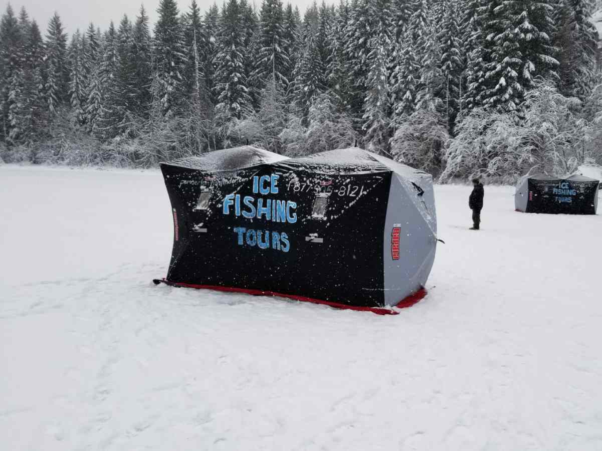Ice Fishing Huts Bc Fishing Reports Pemberton Fish Finder