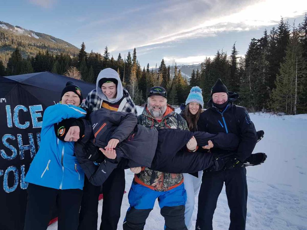 Family Ice fishing trips in Whistler BC