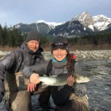 Winter fly fishing Canada