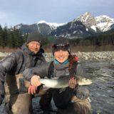 Winter fly fishing Canada