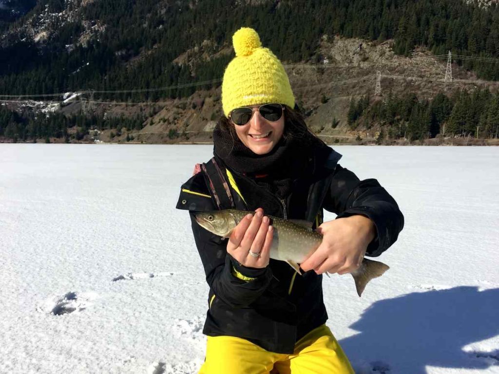 Bull Trout Ice fishing in BC Canada