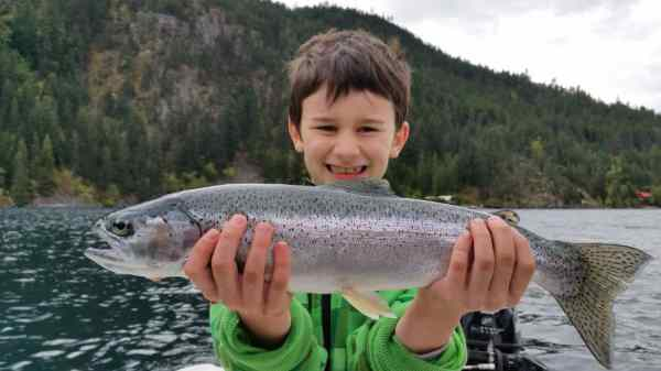 Kids love fishing in Whistler BC