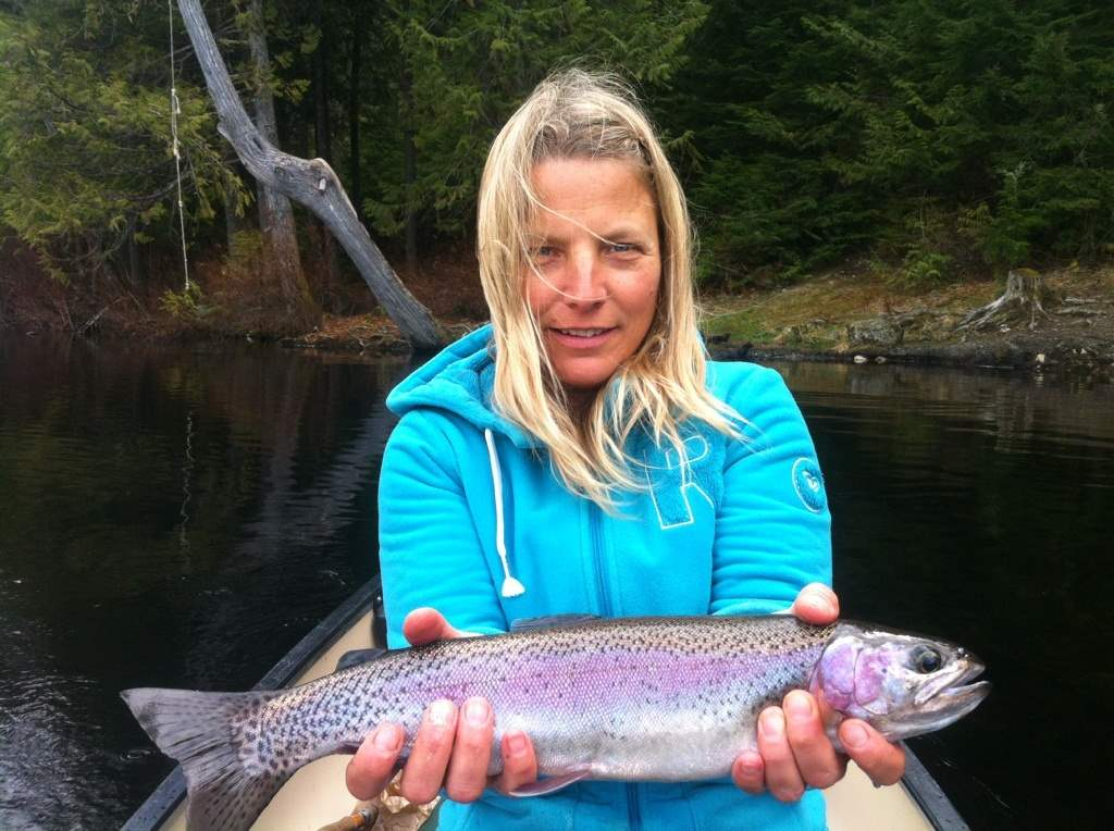 Gallery pictures of fish from whistler and pemberton bc for Women fly fishing