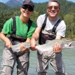Double header Pink Salmon fly fishing fun in Squamish BC