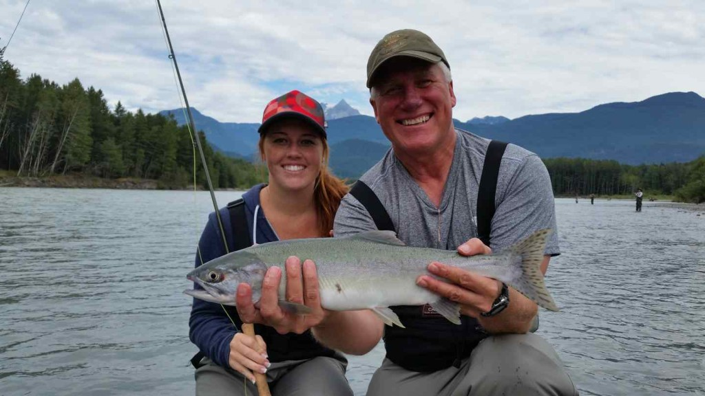 Fly fishing for Pink Salmon in Squamish