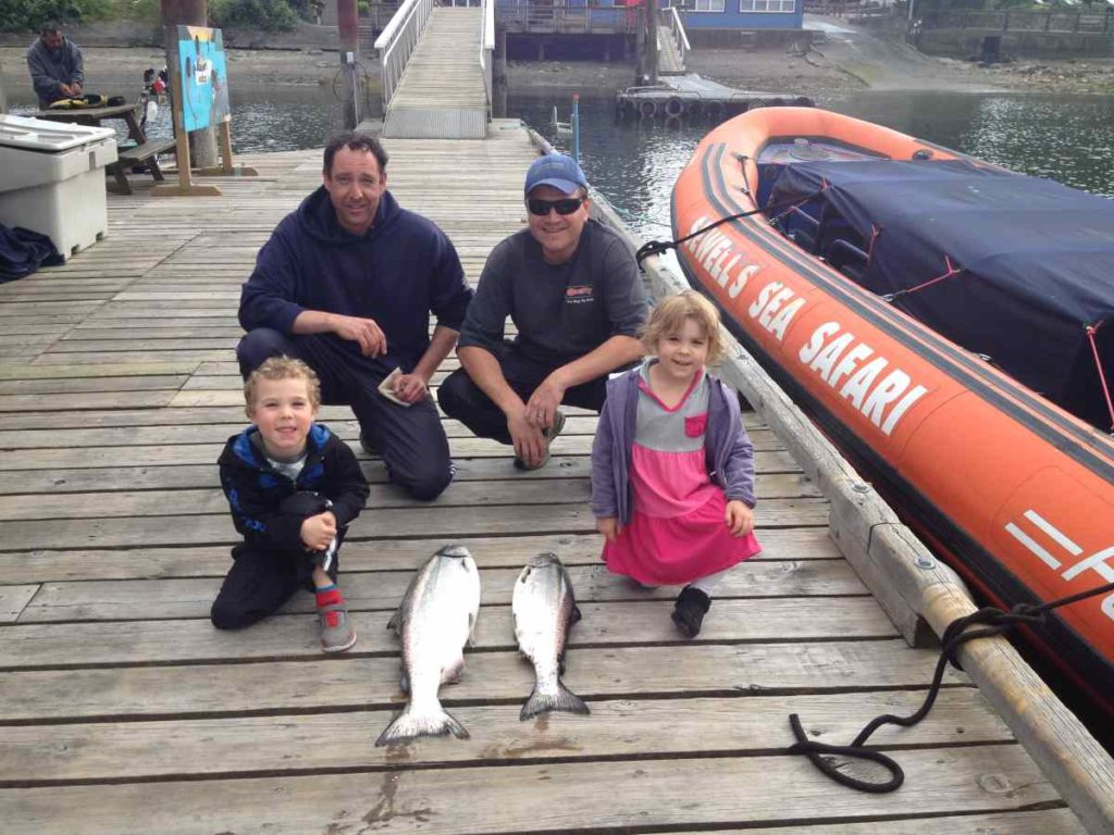 Kids Salmon fishing in Vancouver